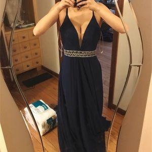 FAVIANA Blue prom dress WORN ONCE